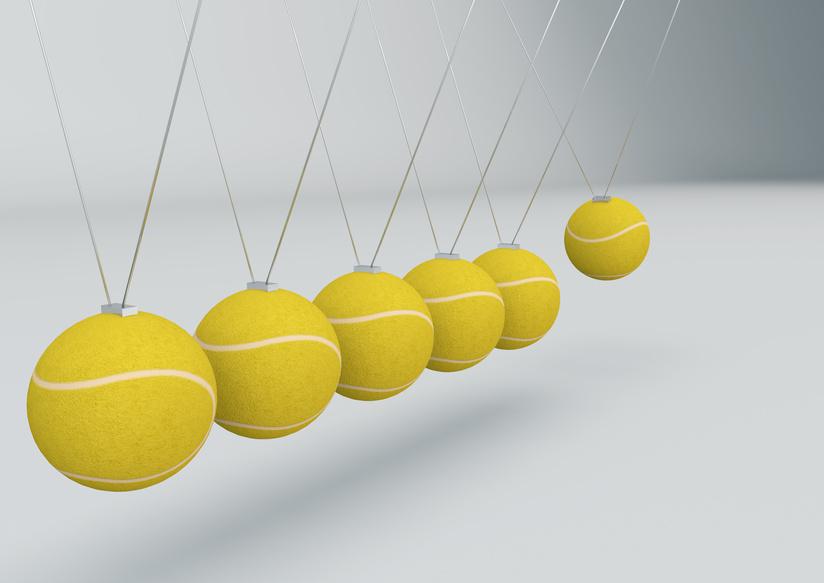 Tennisball Pendel